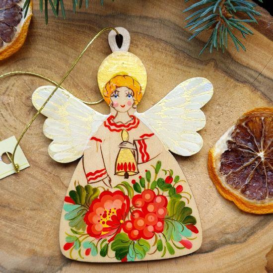 Weihnachtsengel Dekoration handbemalt