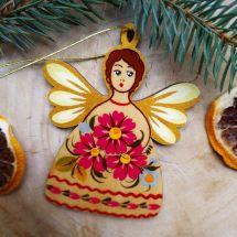 Christbaumschmuck Engel mit goldenen Flügeln