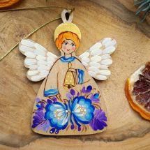 Nostalgischer Weihnachtsschmuck Engel aus Holz