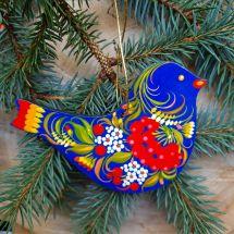 Bird Christmas tree decorations handmade