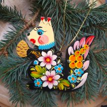 Beautiful Christmas ornament Squirrel handmade