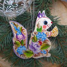 Animal special Christmas decorations Squirrel handmade