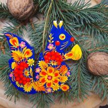 Eichhörnchen Weihnachtsanhänger Kunsthandwerk für den Christbaum