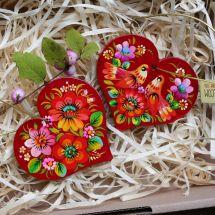 Kleinen roten Herzen aus Holz, Valentinstag Geschenk -Glücksbringer im Auto, Schmuckanhänger für zu Hause