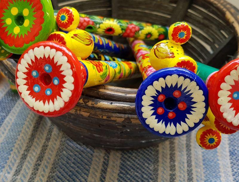 Kinder Musikinstrument, Spielzeug aus Holz, ukrainische Handarbeit