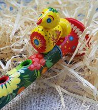 Kinder-Musikinstrument, Flöte aus Holz, ukrainische Handarbeit