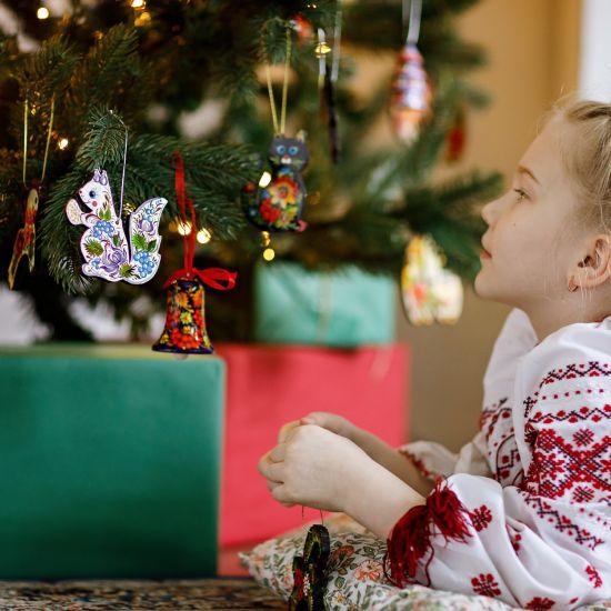 Christbaumschmuck Engel und Herz-Weihnachtsanhänger