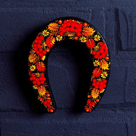 Decorative horseshoe - lucky charm to hang above the door