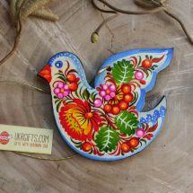 Handmade Ester ornaments Bird ukrainian painted
