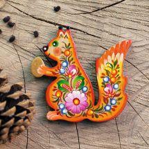 Squirrel fridge magnet - handmade animals magnets