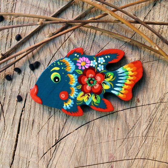 Fish fridge magnet, small handmade gift