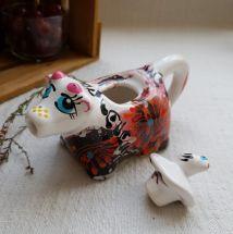 Schöne kleine Kuh - handbemalte Milchkännchen aus Keramik