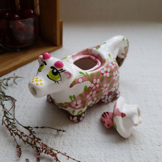 Handbemalte Milchkuh aus Keramik, traditionelles Kunsthandwerk