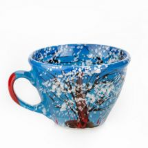 Hand painted ceramic cup Nature in Winter