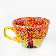 Handcrafted pottery mug Nature in Autemn