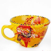 Unusual mug with abstract pattern - ukrainian ceramic