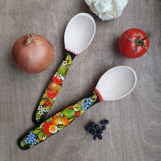 Hand made wooden spoons kitchenware as a gift