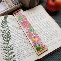 Handgemachte Lesezeichen aus Holz, ukrainische Volkskunst