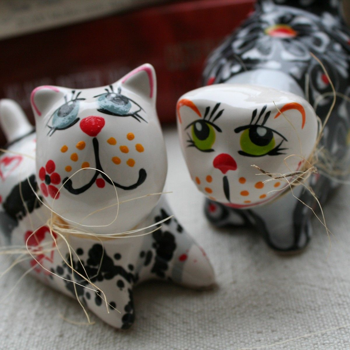 Wood cat Figurine Crafted Wood Home Decor.Valentine gift for women Wooden figure of a cat