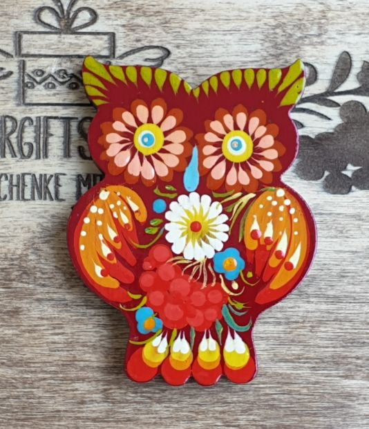 "Animal fridge magnet ""Owl"", small handmade gift for Owl lovers"
