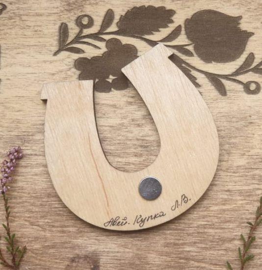 Glücksbringer Hufeisen -Magnet, traditionelles Kunsthandwerk