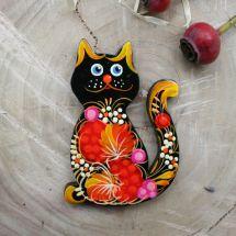 """Nice gift for cat lovers, wooden fridge magnet """"Kitty"""""""