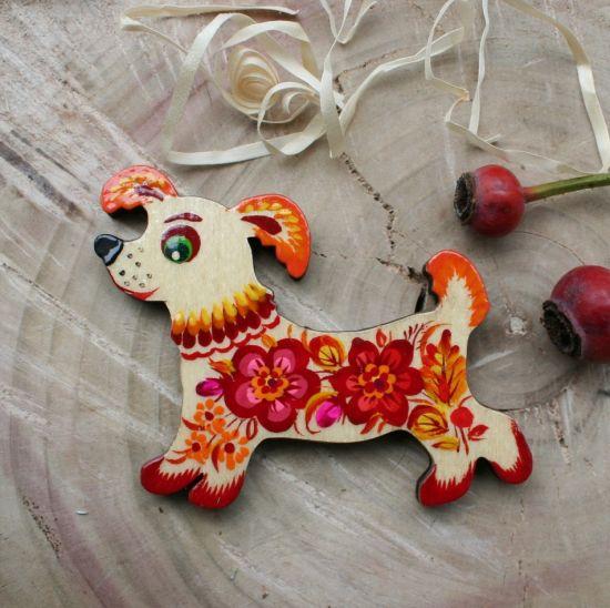 Hund - dekorativer Magnet für Hundeliebhaber