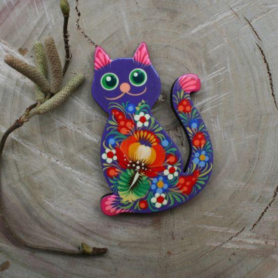 Lustige Katze-Magnet für den Kühlschrank für Katzenliebhaber