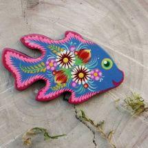Fish fridge magnet, small creative gift, hand painted
