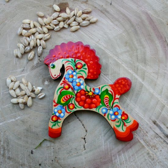 """Animal fridge magnet and souvenir """"Horse"""", small and cool gift"""