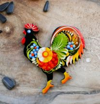 Huhn - schöner Kühlschrankmagnet aus Holz
