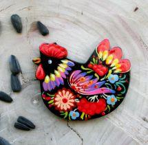 Fridge wooden magnet chicken