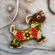Dog - pretty fridge magnets handmade