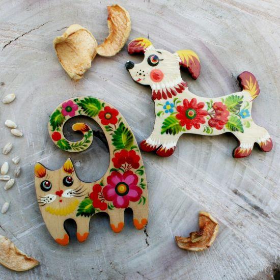 Schönes Hundchen - Kühlschrankmagnet für Hundsammler