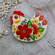 Huhnchen- schöne hochwertige Magnete aus Holz, ukrainische Handwerkkunst
