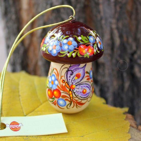 Pilz-Weihnachtsschuck- Glücksbringer und kleines Geschenkdöschen