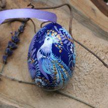 Hochwertiges Osterei mit zauberhaftem Vogel - Kunstvolle Ukrainische Ostereier