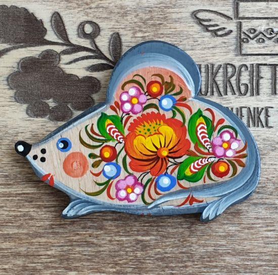"""Mouse lovers gift, animal fridge magnet """"Mouse"""", handmade"""