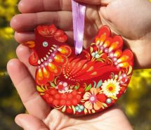 Handpainted easter Chicken ornament
