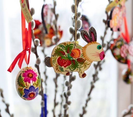 Schöne Schmetterlinge - Hochwertige Osterdeko Set aus Holz- handbemalt
