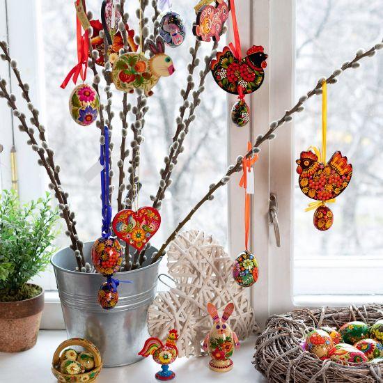 Beautiful bird - Easter ornaments - Ukrainian Petrykiwka painting