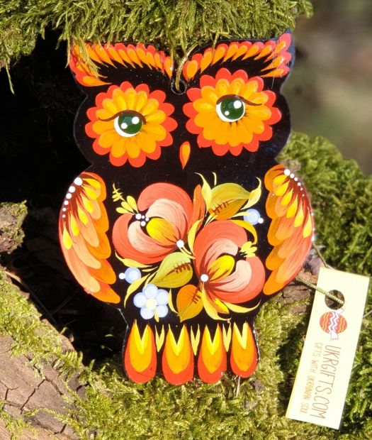 Owl Christmas decoration, wooden, gift idea for Owl lovers
