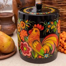 Dekorativer Dose aus Holz für Bulk-Produkte, traditionelles Kunsthandwerk