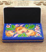 Wooden stand for phone and tablet, beautiful desktop decor, hand painted