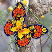 Exclusive Christmas tree decoration butterfly with a filigree pattern