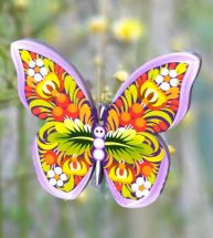 Wooden Christmas decoration - butterfly hand painted