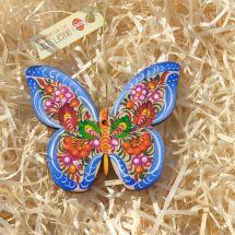 Besonderer Christbaumschmuck- Schmetterling zart bemalt