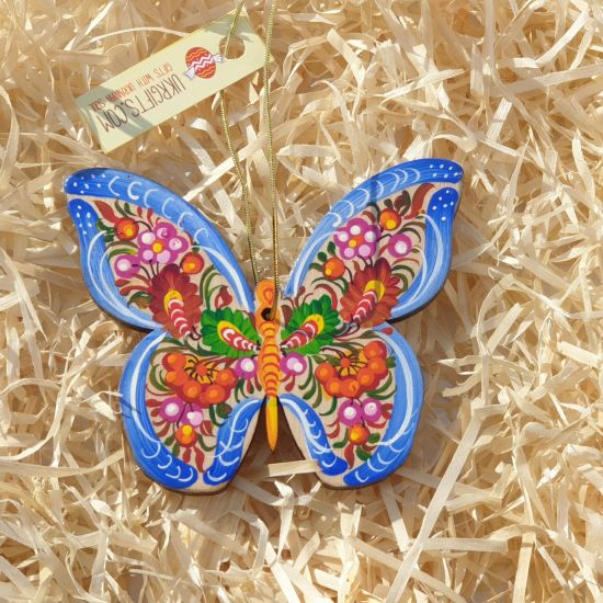 Special Christmas tree decoration- butterfly delicately painted