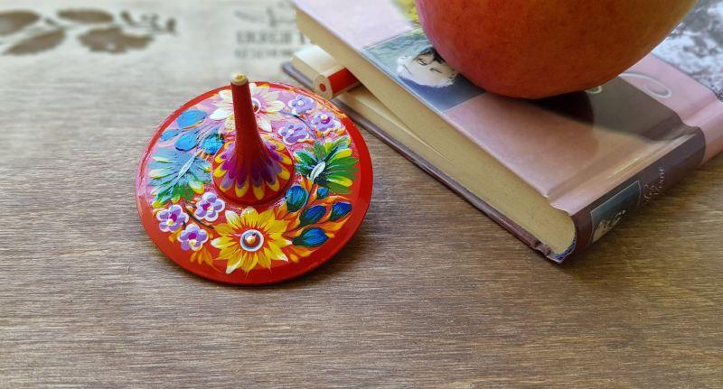 Kreisel aus Holz, Bio-Spielzeug für Kinder, ukrainisches Kunsthandwerk