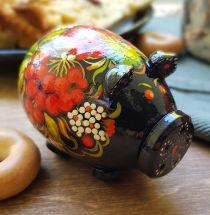 Salt und pepper shaker handmade - ukrainian painting